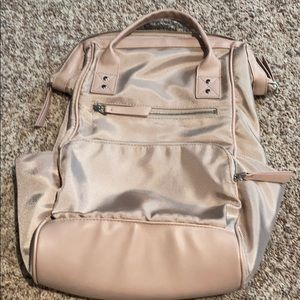Wild Fable wide opening light pink backpack